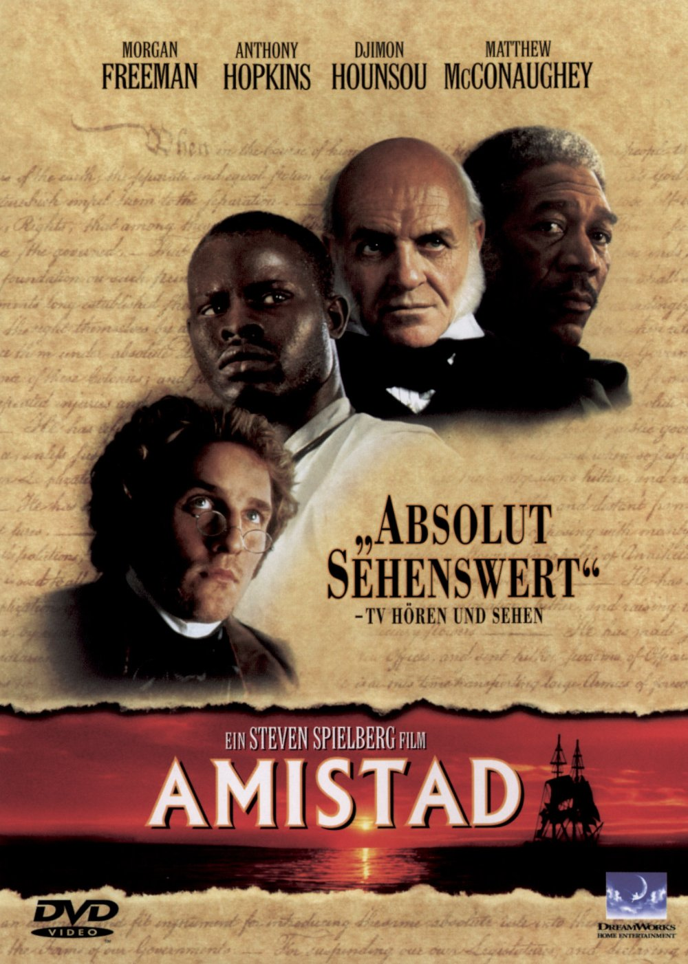 an analysis of the horror of slaves in the film amistad by steven spielberg This steven spielberg-directed exploration into a long-ago episode in african-american history recounts the trial that followed the 1839 rebellion aboard the spanish slave ship amistad and captures the complex political maneuverings set in motion by the event.