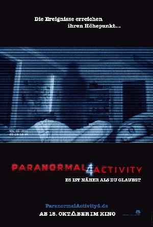 Paranormal Activity 4 - Plakat/Cover